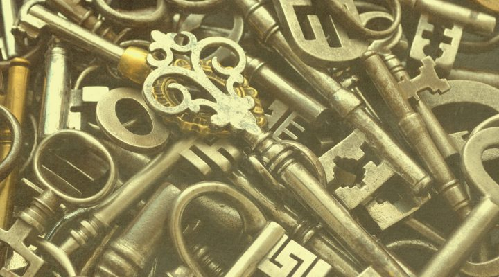 Mange gamle nøkler