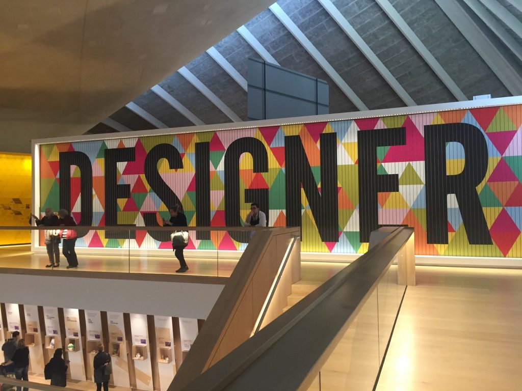 Interiør fra designmuseet i London