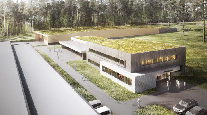 Planfoto av mulig magasinbygg ved Anno museum.