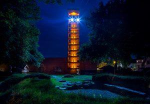 Olavs hall og tårnet på Borgarsyssel Museum. Foto: Eivind Lauritsen