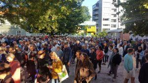 Byvandring i regi av Oslo museum, med Alf Folmer i 2017 og over 800 publikummere.